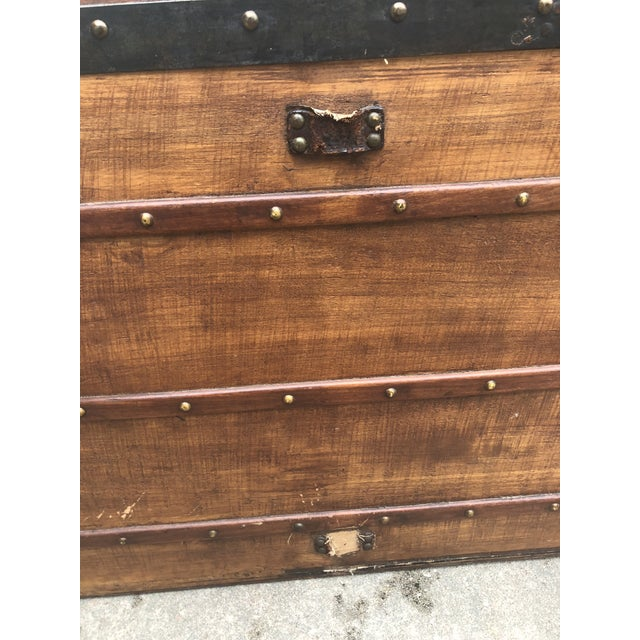 1910s French Louis Vuitton Steamer Trunk For Sale - Image 11 of 13