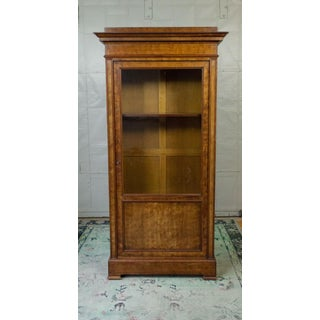 French 19th Century Chestnut Bookcase With Original Glass Door Preview