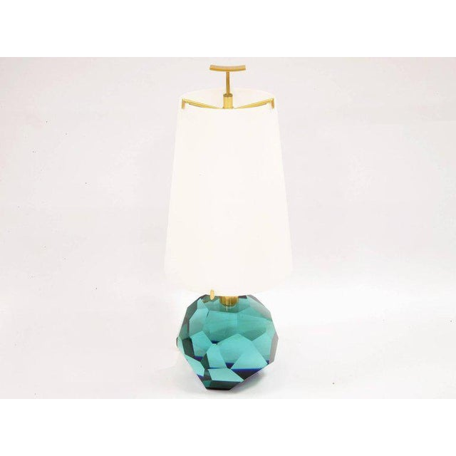 """Pair of Lamps """"Diamante Blu"""" by Roberto Giulio Rida For Sale - Image 6 of 7"""