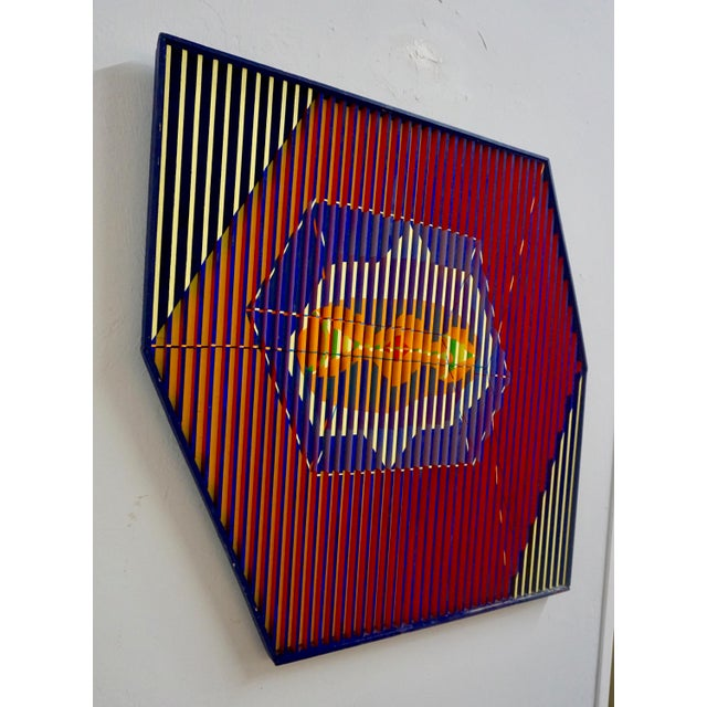Mid-Century Modern Abstract Painted Relief by Louis Nadalini For Sale - Image 3 of 6