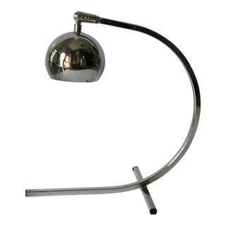 Mid Century Chrome Orb Arc Lamp