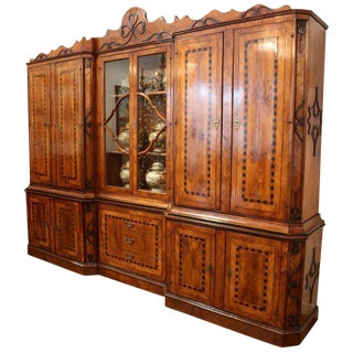 Vintage Italian Walnut Bookcase Circa 1960 For Sale