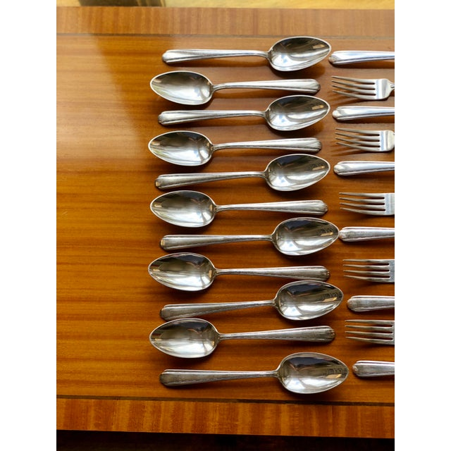 Art Deco 1930s Melody by Alvin Silverplate Flatware Set for 11 Dinner Service - 44 Pieces For Sale - Image 3 of 8