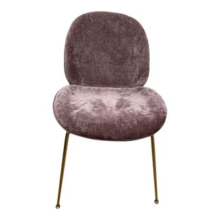 Interlude Luna Dining Chair in Violet-Rose For Sale