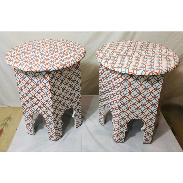Moroccan Style Lamp Tables - a Pair For Sale In New York - Image 6 of 10