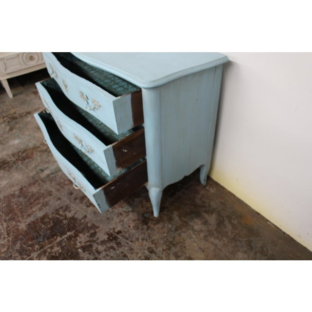20th Century Vintage Painted Blue Commode For Sale In Atlanta - Image 6 of 9