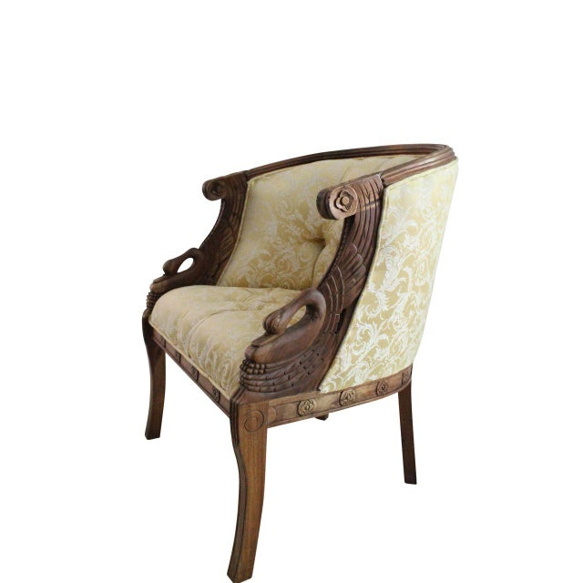 Mahogany Swan Carved Armchairs - A Pair - Image 4 of 5