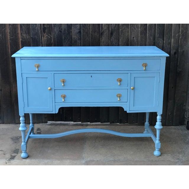 Blue Wood Buffet - Image 9 of 9