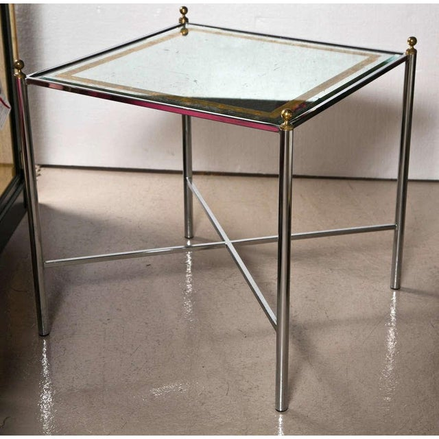 Jansen Mid-Century Style Chrome Side Tables - Pair - Image 7 of 7