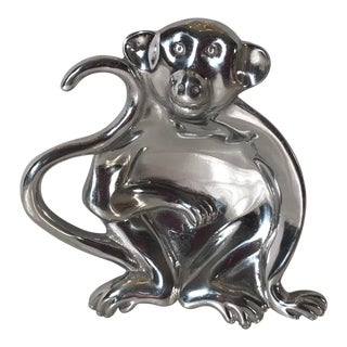 Vintage Monkey Serving Dish by Mariposa For Sale