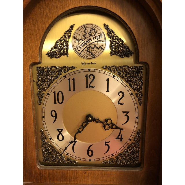 Metal Herschede Lady Hawthorne No. 611 Grandfather Clock For Sale - Image 7 of 8