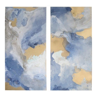 """""""Fall Into Light No.2"""" Paintings - Set of 2 For Sale"""
