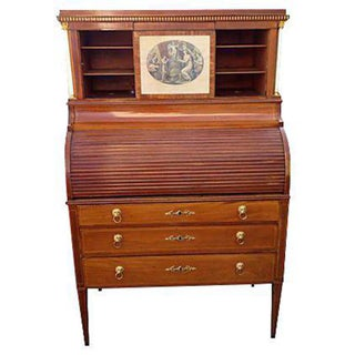 19th Century Antique Neoclassical Baltic Secretary Desk For Sale