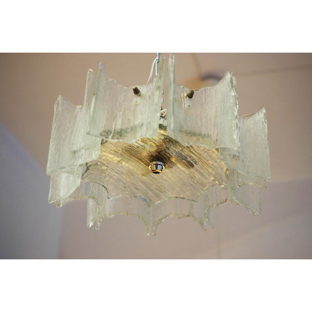 1960s Glass chandelier by JT Kalmar For Sale - Image 5 of 11