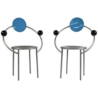 1980s 'First Chairs' by Memphis Milano Designer Michele De Lucchi - A Pair For Sale