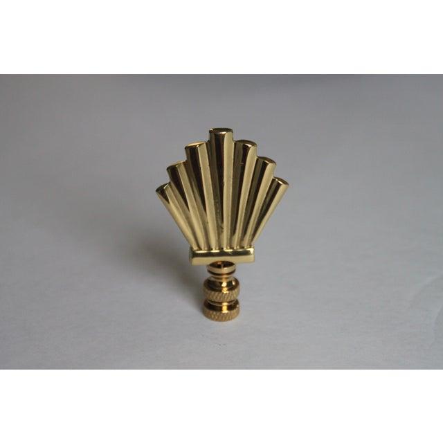 Brass Art-Deco Style Fan Finials - A Pair - Image 3 of 3