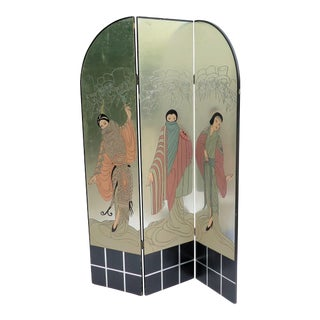 1960's Art Deco 3-Panel Screen For Sale