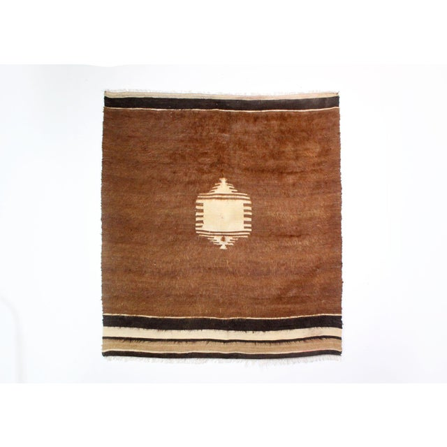 Nomadic Yoruk Tribe Hand-Woven Angora Blanket For Sale In Los Angeles - Image 6 of 6