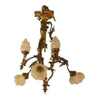 Louis XVI Style Bronze Chandelier For Sale