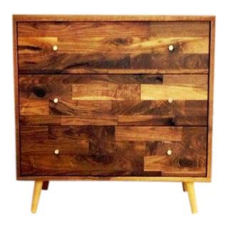 Mid-Century Solid Walnut Dresser For Sale