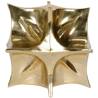 Noir Brass Solanum Sculpture For Sale