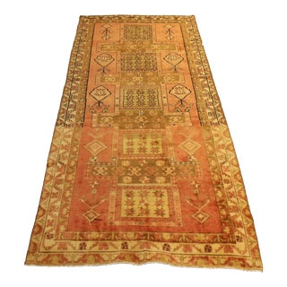 1960s Vintage Persian Malayer Rug - 5′ × 10′6″ For Sale