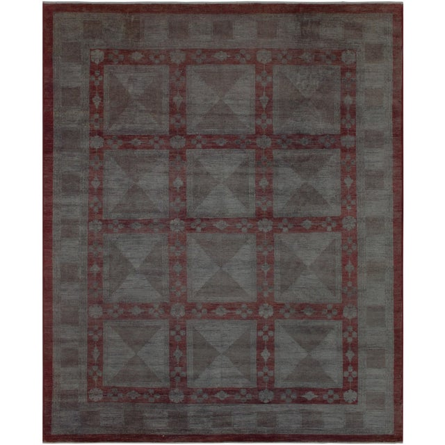 Over Dyed Color Reform Loni Lt. Gray Wool Rug - 7'9 X 9'11 A3357 For Sale