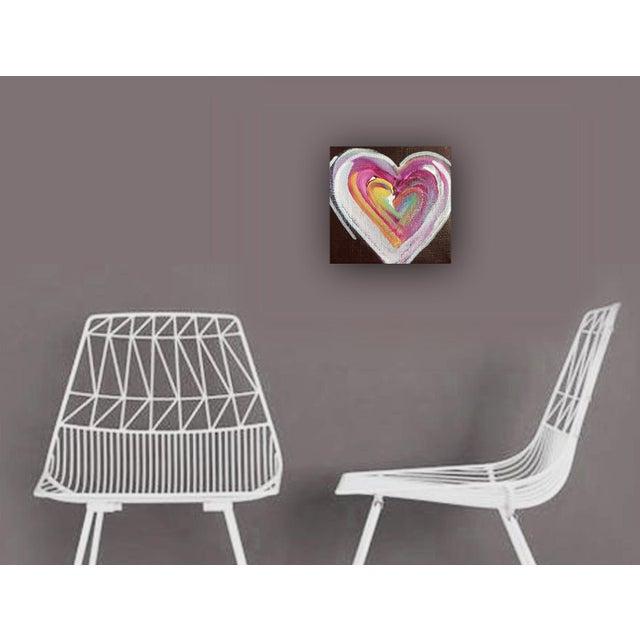 'Chocolate Heart' Original Painting by Linnea Heide - Image 5 of 5