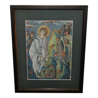 1950's Mid-Century Moses Ravenna Moasic Print