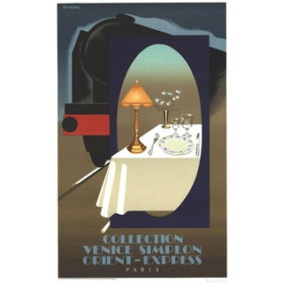 Pierre Fix Masseau, Orient Express, Lithograph Poster For Sale