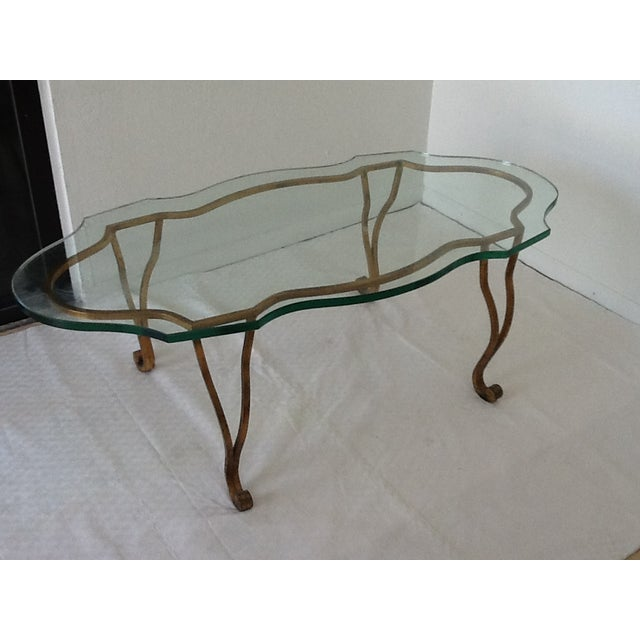 Vintage Iron Gold-Leaf Coffee Table - Image 3 of 5