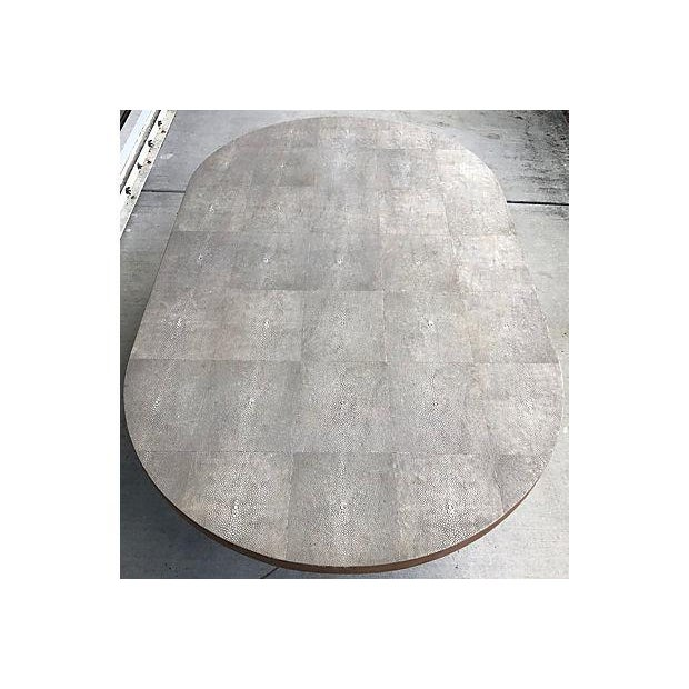 Gray Shagreen Coffee Table / Cone Shape Legs - Image 5 of 8