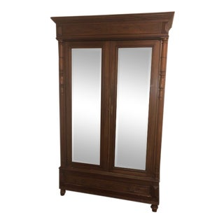 Antique Armoire With Shelves For Sale