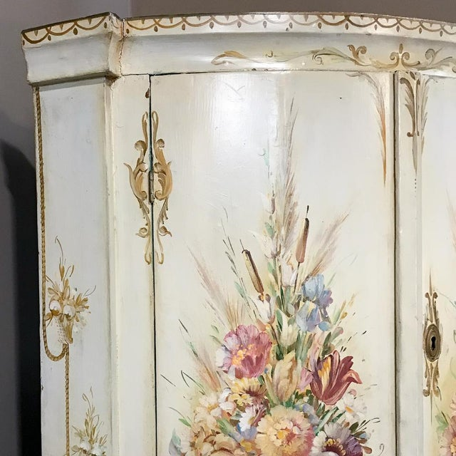 19th Century Swedish Painted Corner Cabinet For Sale - Image 10 of 13