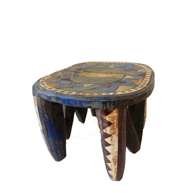 African Old Nupe Low Stool For Sale In New York - Image 6 of 10