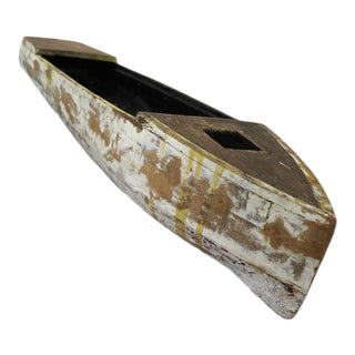 Vintage Wooden Toy Pond Yacht Hull For Sale
