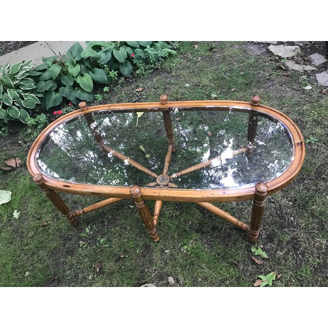 Chippendale 1970's Vintage Nautical Themed Coffee Table For Sale - Image 3 of 8