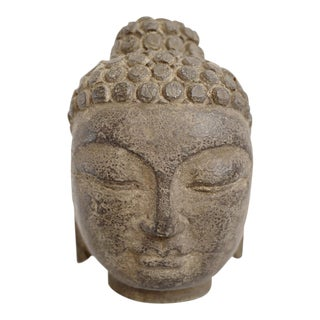 Baby Buddha Stone Head For Sale