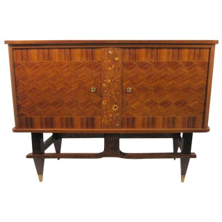 Small French Cabinet in Palisander With Marquetry and Parquetry Detail For Sale