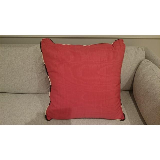 Down Throw Pillows Sofa : Pink Stripe Border Decorative Sofa Pillow Chairish