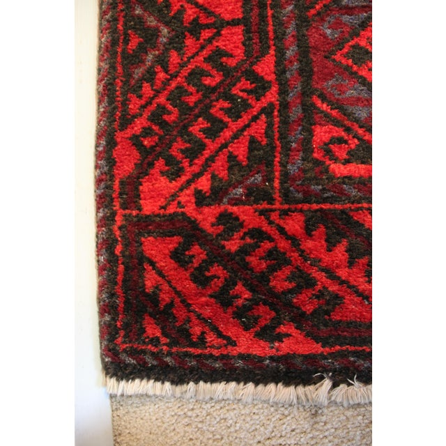 Brilliant reds and deep blues make this a gorgeous statement piece 100% wool Hand made Arak area rug - runner Made in Iran...