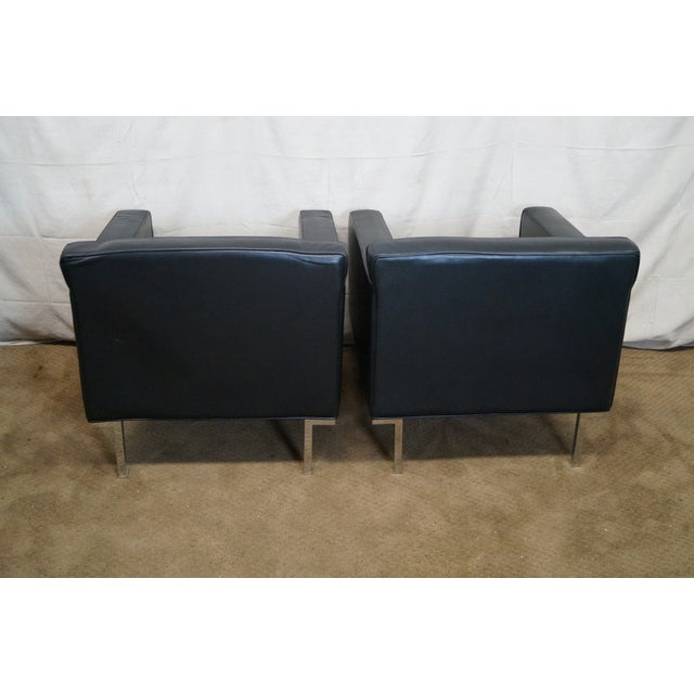 Ted Boerner American Leather Club Chairs - Pair - Image 4 of 10