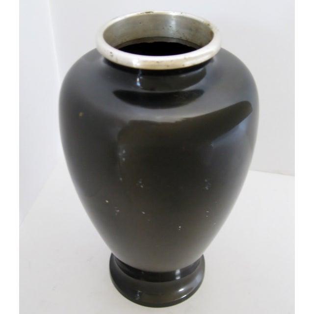 Vintage Meiji Metalwork Vases - A Pair - Image 9 of 11