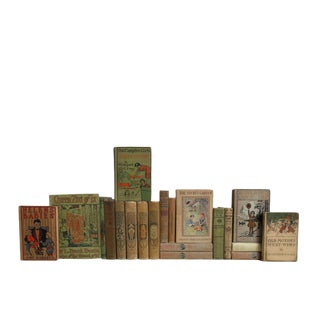 Turn-Of-Century Stories for Girls Decorative Books - Set of 20 For Sale