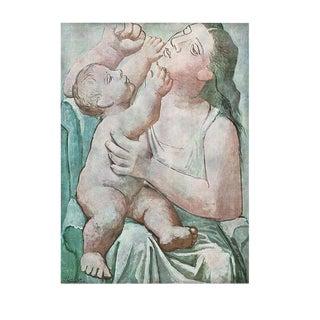 1971 Picasso Maternite Period Parisian Photogravure Print For Sale