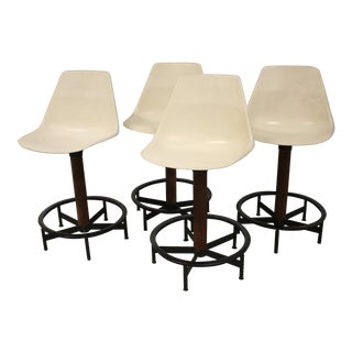 Arthur Umanoff for Burke Bar Stools - Set of 4 For Sale