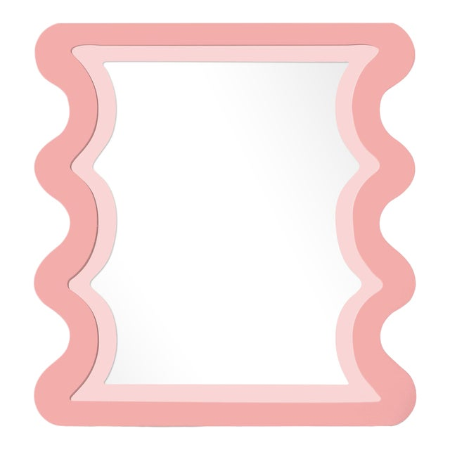 Fleur Home x Chairish Carnival Mystic Rectangle Mirror in Pink Punch, 24x36 For Sale