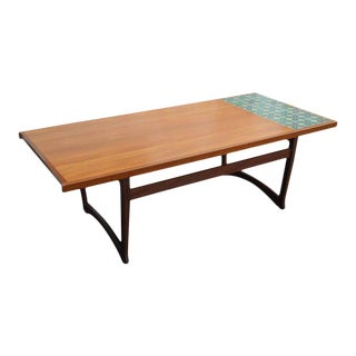 Mid-Century Norwegian Teak & Mahogany Coffee Table For Sale
