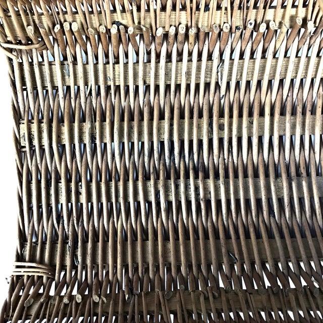 Vintage Wicker Log Basket & Magazine Rack For Sale - Image 11 of 13