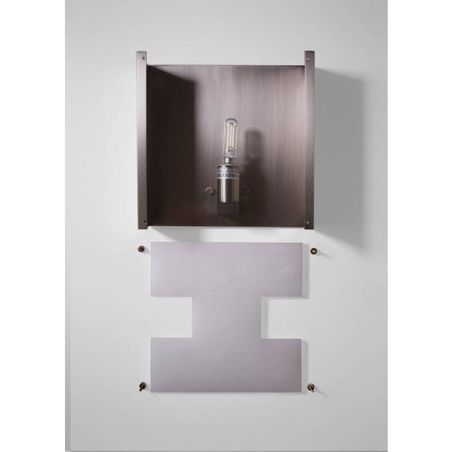 2010s Modern Contemporary 002a Sconce in Nickel and Alabaster by Orphan Work For Sale - Image 5 of 5